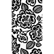 Amscan Eco-Friendly Guest Towels, 7.75'' x 4.5'', Black Floral, 4/Pack, 16 Per Pack (530035)