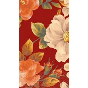 Amscan Classic Floral Red Guest Towels, 7.75'' x 4.5'', 4/Pack, 16 Per Pack (539701)