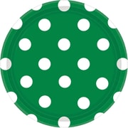 Amscan Polka Dots 7'' Festive Green Round Paper Plates, 8/Pack, 8 Per Pack (541537.03)