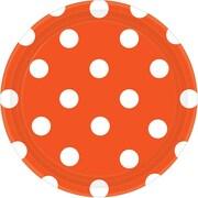"Amscan Polka Dots Round Paper Plates, 7"", Orange Peel, 8/Pack, 8 Per Pack (541537.05)"