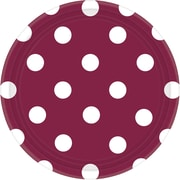 Amscan 7'' Berry Polka Dots Round Paper Plates, 8/Pack, 8 Per Pack (541537.27)
