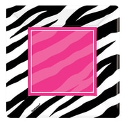 Amscan Zebra Party 7'' x 7'' Square Paper Plates, 8/Pack, 8 Per Pack (543672)