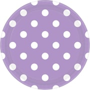 Amscan 9'' Lavender Polka Dots Round Paper Plates, 8/Pack, 8 Per Pack (551537.04)