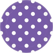 "Amscan Polka Dots Round Paper Plates, 9"", New Purple, 8/Pack, 8 Per Pack (551537.106)"