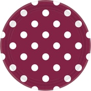 Amscan Polka Dots 9'' Berry Round Paper Plates, 8/Pack, 8 Per Pack (551537.27)