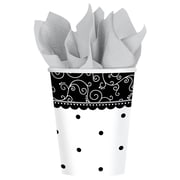 Amscan 9oz Black and White Wedding Paper Cup, 8/Pack, 8 Per Pack (581091)