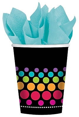 Amscan Party On 9oz Rainbow Dots Paper Cups, 8/Pack, 8 Per Pack (583677) 1969725