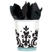 Amscan 9oz Black/White Always and Forever Anniversary Paper Cups, 8/Pack, 8 Per Pack (589461)