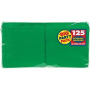 """Amscan Big Party Pack Napkins, 5"""" x 5"""", Festive Green, 6/Pack, 125 Per Pack (600013.03)"""