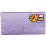 "Amscan Big Party Pack Napkins, 5"" x 5"", Lavender, 6/Pack, 125 Per Pack (600013.04)"