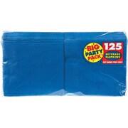 "Amscan Big Party Pack Napkins, 5"" x 5"", Royal Blue, 6/Pack, 125 Per Pack (600013.105)"