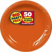 "Amscan Big Party Pack 7"" Orange Round Plastic Plates, 3/Pack, 50 Per Pack (630730.05)"