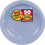 """Amscan 7"""" Pastel Blue Big Party Pack Round Plastic Plates, 3/Pack, 50 Per Pack (630730.108)"""