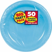 "Amscan 10.25"" Caribbean Big Party Pack Round Plastic Plate, 2/Pack, 50 Per Pack (630732.54)"
