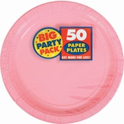 "Amscan 9"" Pink Big Party Pack Round Paper Plates, 5/Pack, 50 Per Pack (650013.109)"