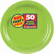 "Amscan 9"" Kiwi Big Party Pack Round Paper Plates, 5/Pack, 50 Per Pack (650013.53)"