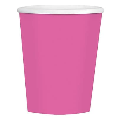 Amscan 12oz Bright Pink Paper Coffee Cup, 4/Pack, 40 Per Pack (689100.103) 1970880