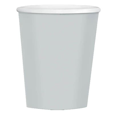 Amscan 12oz Silver Paper Coffee Cup, 4/Pack, 40 Per Pack (689100.18) 1969747
