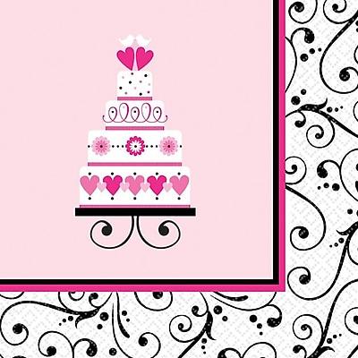 """""""""""Amscan Sweet Wedding Bridal Shower Beverage Napkins, 5"""""""""""""""" x 5"""""""""""""""", 4/Pack, 36 Per Pack (701173)"""""""""""" 1970656"""