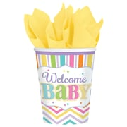 Amscan 9oz 'Welcome Baby' Baby Shower Paper Cups, 4/Pack, 18 Per Pack (731488)