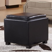 NOYA USA Classic Storage Ottoman; Black