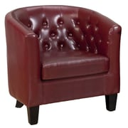 Jofran Gianni Leather Club Chair; Red