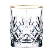 Lorren Home Trends Siena Crystal Double Old Fashioned Glass (Set of 4)