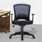 Manhattan Comfort Classic Low-Back Mesh Conference Chair with Adjustable Height
