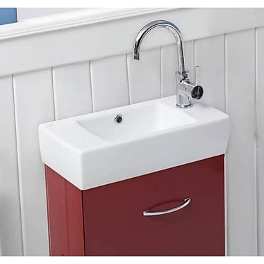 CeraStyle by Nameeks City 19.7'' Rectangular Ceramic Wall Mounted or Self-Rimming Bathroom Sink