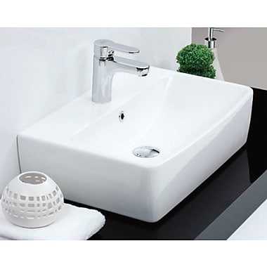 CeraStyle by Nameeks Poco 22'' Square Ceramic Wall Mounted or Vessel Bathroom Sink