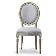 Wholesale Interiors Clairette Wood Traditional French Side Chair