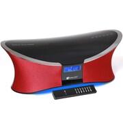 Avalon 2.1 Channel Bluetooth Sound System w/ FM Radio & Remote Control - Red