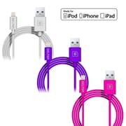 4FT Apple Certified Sync and Charge Lightning  Cables, Assorted Pack Sizes & Colors