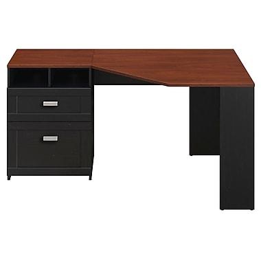 Bush Wheaton Reversible Corner Desk, Antique Black/Hansen Cherry