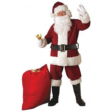 Crimson Santa Suit with Faux Fur Trim