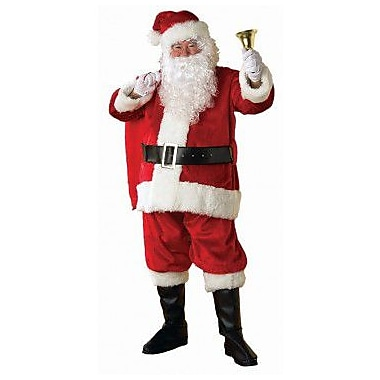 Regency Plush Santa Suit with Faux Fur Trim, XX-Large