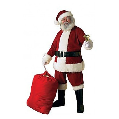 Ultra Velvet Santa Suit with Faux Fur Trim, X-Large