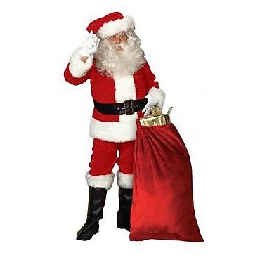 Costume de Père Noël en peluche impériale avec garniture en fausse fourrure, standard