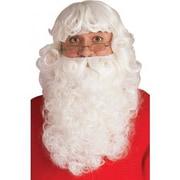 Ensemble de luxe de barbe et perruque de Père Noël