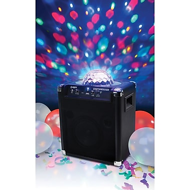 ION Audio iPA25 Party Rocker Live Bluetooth Speaker with Light Show, Black
