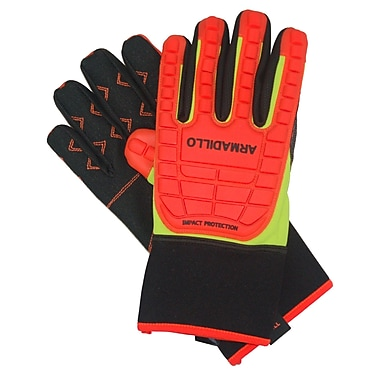 Northern Gloves Arma Tuff Armadillo Impact Protection Glove, XL, High Visibility Orange, Mechanics Palm