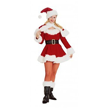 Costume de mademoiselle Noël en velours, petit
