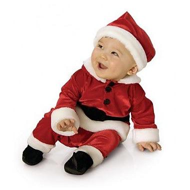 Costume en velours pour bébé Noël, nouveau-né