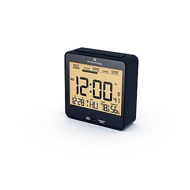 Marathon Atomic Auto-Night Light Desk Clock with Heat & Comfort Index, Midnight Blue