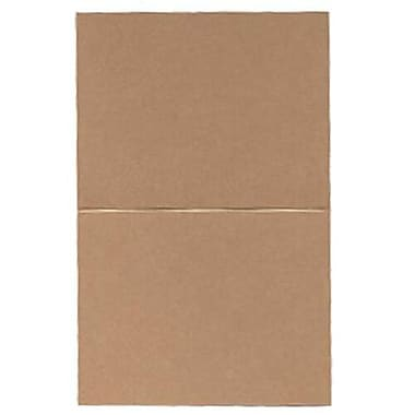 JAM Paper® Blank Foldover Cards, A2 size, 4.25 x 5.5, Curious Metallic Cappuccino Brown, 50/Pack (6937062)