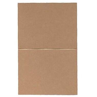 JAM Paper® – Cartes de repli, 4,25 po x 5,5 po, cappuccino métallique curieux, paq./50