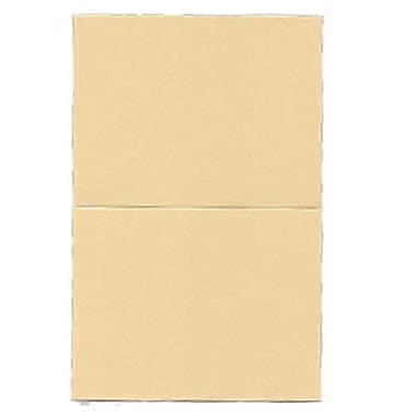 JAM Paper® Blank Foldover Cards, A2 size, 4.25 x 5.5, Curious Metallic Caramel Brown, 50/Pack (6937063)