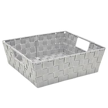 Simplify Shelf Polyester Woven Strap Totes, Heather Grey