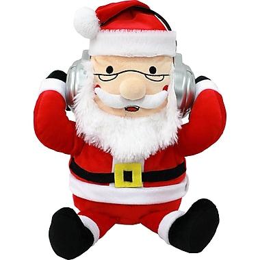 iTalk – Haut-parleur de communication Bluetooth intégré dans un adorable Père Noël en peluche portatif