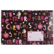 JAM Paper® Holiday Bubble Mailers, Large, 10.5 x 16, Christmas Peace and Joy, 6/pack (SS37LDM)
